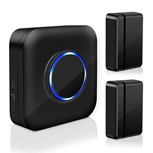Door Open Alert BITIWEND Wireless Door Sensor Chime for Office/Home/Store,Door Open Chime Window Alarm Operate Range 600ft...