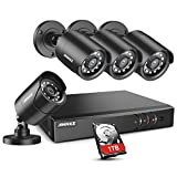 ANNKE 8CH H.265+ 5MP Lite Surveillance Camera System with 4pcs 1920TVL Wired CCTV Cameras, IP66 Weatherproof for Indoor...