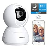 TENDOMI Security Camera 1080P WiFi Pet Camera Home Indoor Surveillance Camera with PTZ, 2 Way Audio, Motion Detection,Night...