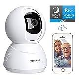 TENDOMI Security Camera 1080P WiFi Pet Camera Home Indoor Surveillance Camera with PTZ, 2 Way Audio, Motion Detection,Night...