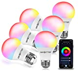 DAYBETTER Smart Light Bulbs, RGBW Wi-Fi Color Changing Led Bulbs Compatible with Alexa & Google Home Assistant, A19 E26 9W...