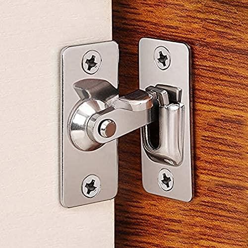 90 Degree Right Angle Door Lock Buckle Lock Bolt Lock cam Lock for Door and Window Sliding Lock bar Bolt barn Sliding Door...
