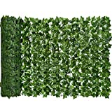 DearHouse Artificial Ivy Privacy Fence Screen, 118x39.4in Artificial Hedges Fence and Faux Ivy Vine Leaf Decoration for...