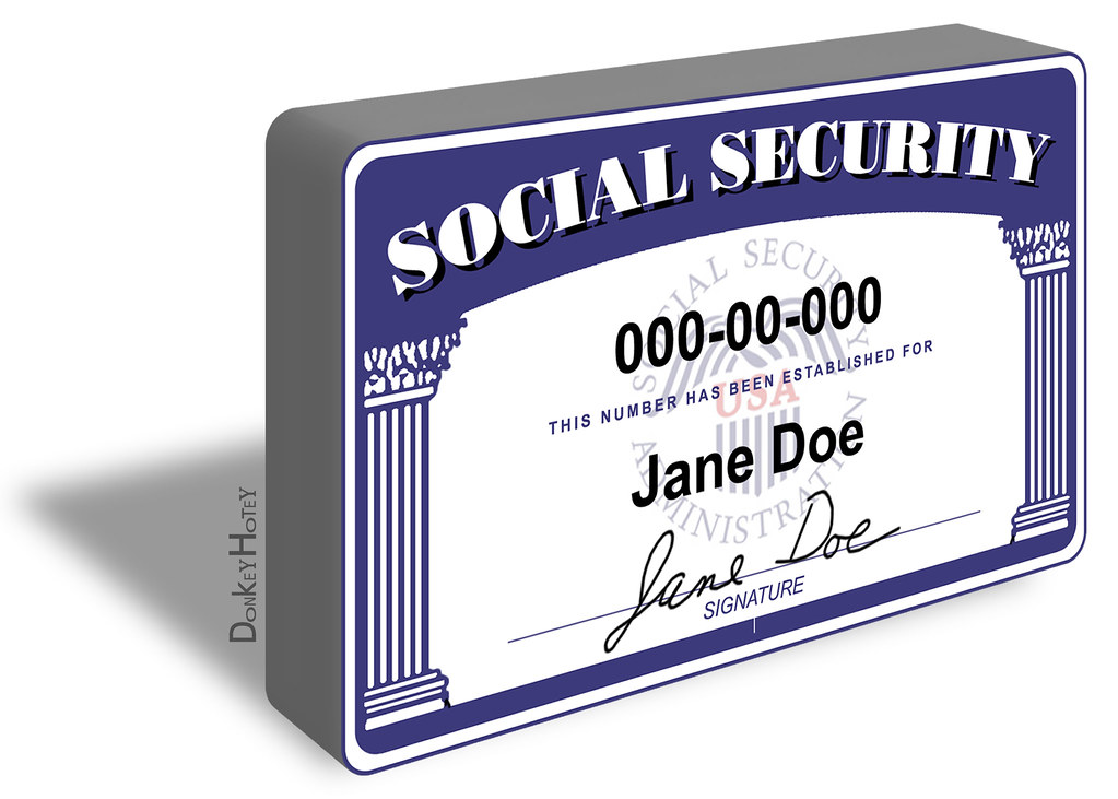 Social Security Card Lost Report